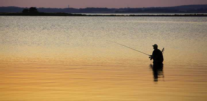 Wade fishing