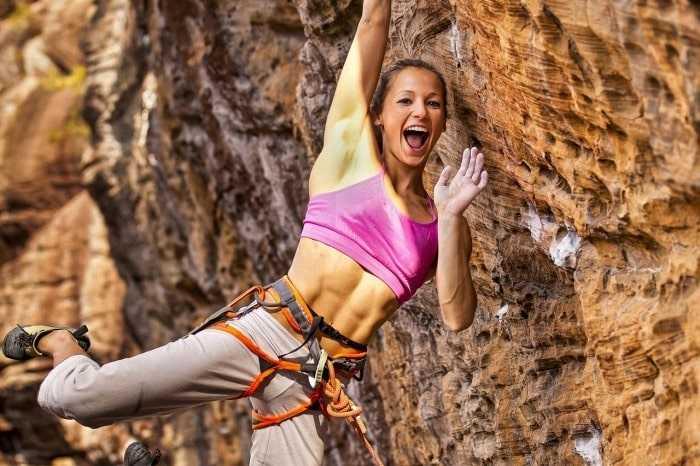 Women Rock Climbing
