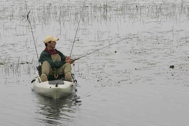 Fisherman on a kayak